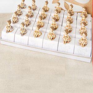 Torta bomboniera ballerina composta da set 24 tappi i