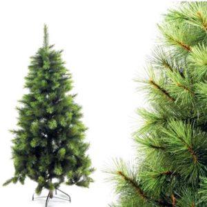 Albero di Natale Pino artificiale modello Alaska con base in metallo