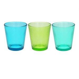 Bicchieri acqua colorati realizzati in vetro