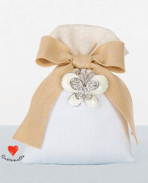 bd90544fc2 Sacchetto ciondolo farfalla portafortuna Cuorematto - MilleMotivi.com