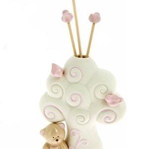 bomboniera profumatore albero della vita orsetto rosa