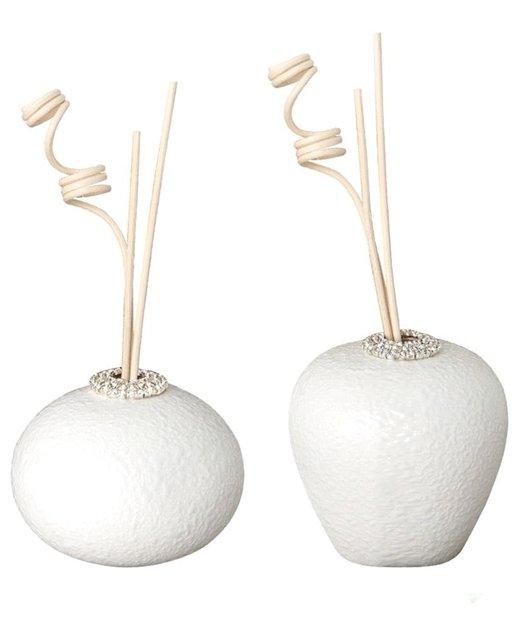 Profumatore in porcellana e finitura con strass forme ovale o tonda