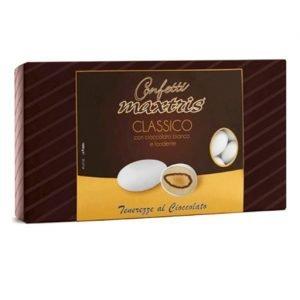 confetti bianchi mandorla e cioccolato