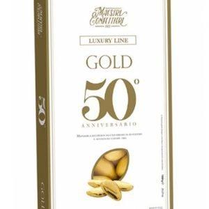 Confetti oro alla mandorla nozze d'oro
