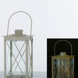 lanterna luce led in metallo