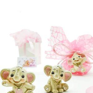 Bomboniera Portachiavi elefantino battesimo bimba confetti