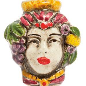 magnete testa di moro donna ceramica di caltagirone