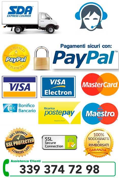 pagamenti e assistenza clienti su millemotivi.com