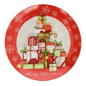 Piatto per panettone Natale Tognana.