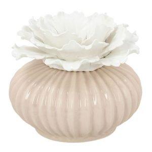 Profumatore fiore di colore beige ideale come bomboniera