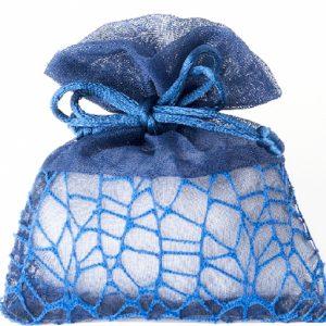 Sacchetti portaconfetti in rete colore blu