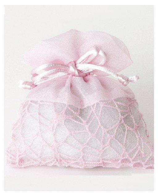 Sacchetti portaconfetti in rete colore rosa
