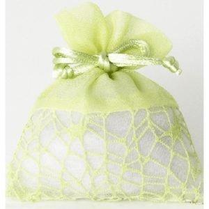 Sacchetti portaconfetti in rete colore verde