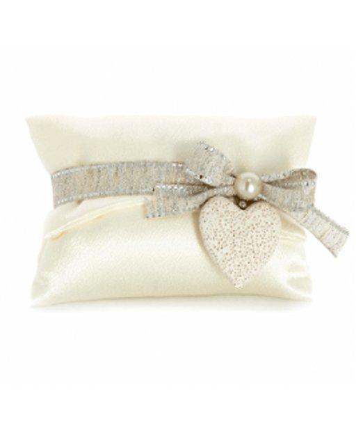 sacchetto busta seta con confetti nozze d'argento