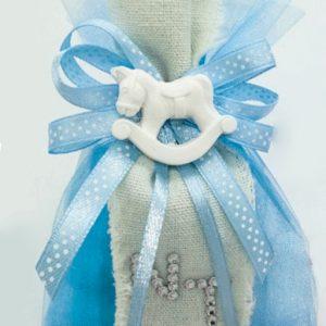 sacchetto nascita bimbo con gessetti