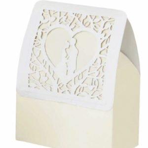 scatola portaconfetti cuore matrimonio