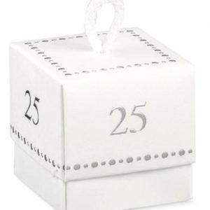 scatola portaconfetti nozze d'argento