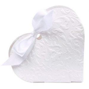 Scatolina cuore portaconfetti set 10 pezzi
