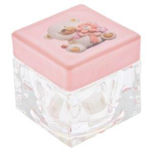 scatolina portaconfetti orsetto rosa