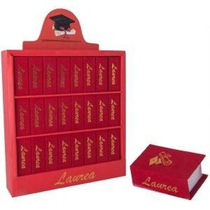 Scatoline portaconfetti laurea libro in velluto rosso