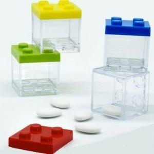 scatoline portaconfetti lego