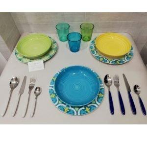 Servizio piatti Tognana colorati ed economici