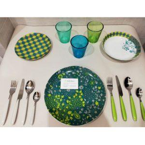 Servizio piatti Tognana colore verde