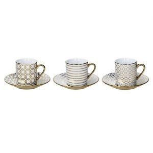 Tazzine da caffè tognana realizzati in porcellana. Questo meraviglioso set è composto dalle seguenti parti: 6 tazzine da caffè, 6 piattini per tazzine. Lavabili in lavastoviglie.