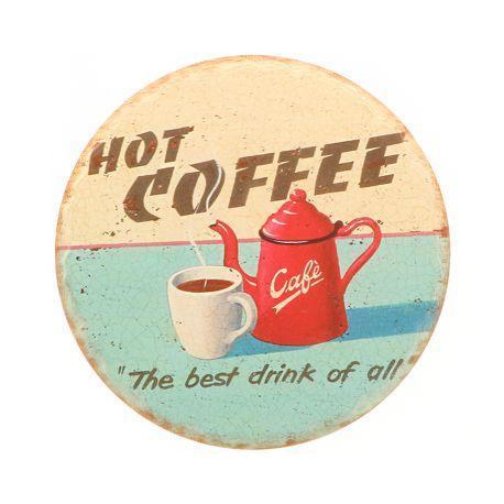 Sottopentola originali in ceramica decorate a mano, con stampa caffè espresso. Strato inferiore in sughero per evitare che il poggia pentole scivoli sulla superficie. Ideale per un matrimonio tema caffè!