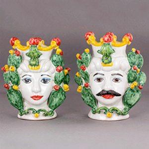 teste di moro ceramica bianca di caltagirone