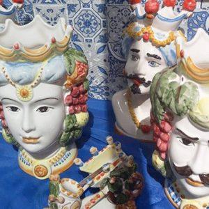 teste di moro donna ceramica di caltagirone