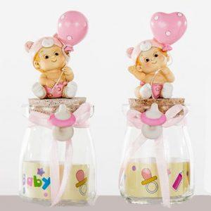 Bomboniere vasetto battesimo bimba portaconfetti in vetro un idea originale per la tua bimba nascita / battesimo.