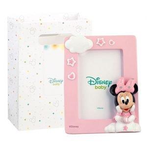 Portafoto minnie realizzato in resina. Nuova collezione Disney 2019. Questa graziosa bomboniera minnie è ideale per : nascita, battesimo, compleanno.