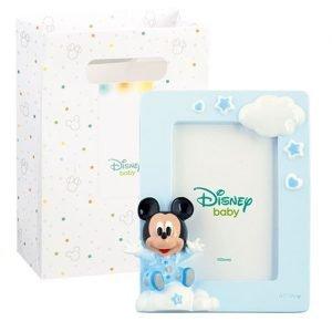 Portafoto Topolino realizzato in resina. Nuova collezione Disney 2019. Questa graziosa bomboniera topolino è ideale per : nascita, battesimo, compleanno.