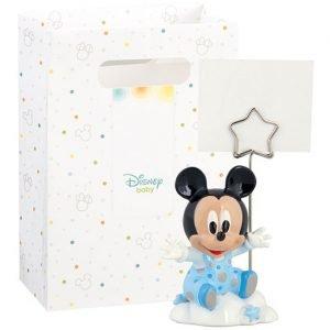 Bomboniera topolino baby memoclip realizzata in resina. Nuova collezione Disney 2019.