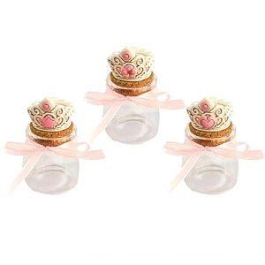 Portaconfetti originali corona rosa con tappo in sughero realizzate in resina della nuova collezione 2019. Ideali per nascita, battesimo e compleanno da consegnare con gustosi confetti all'interno.
