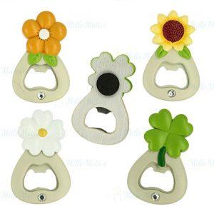 Apribottiglie magnete con fiori