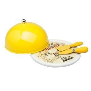 Set formaggio Tognana realizzato in porcellana della LINEA STARBAMBOO. Meraviglioso set formaggio composto da quattro pezzi: 2 palette, tagliere e coperchio.