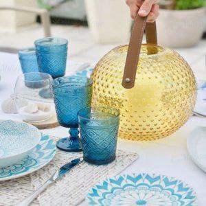 Servizio di piatti Bluebay Tognana realizzati in porcellana