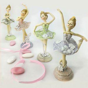Bomboniere ballerine comunione, eleganti statuette in resina ideali per realizzare anche bomboniere battesimo femminuccia.