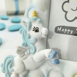 Portafoto unicorno realizzato in resina