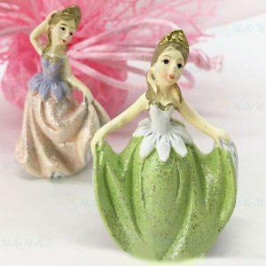 Bomboniera principessa, eleganti statuette realizzate in resina