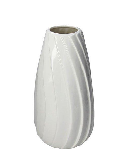 Vaso in porcellana bombato