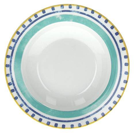 Servizio di piatti Alhambra Tognana realizzati in porcellana con decori estivi e vivaci.