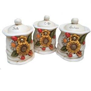 Set tre barattoli girasole