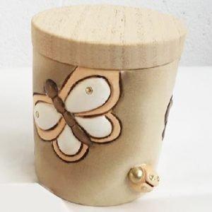 barattolo cilindro con farfalla