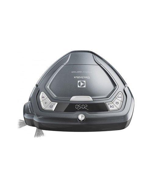 Aspirapolvere robot Electrolux ERV5210TG. Tipo di contenitore della polvere: Senza sacchetto, Capacità polvere (totale): 0,5 L, Colore del prodotto: Grigio. Emissione acustica: 75 dB, Modalità di pulizia: Auto, Durata massima del timer: 1 h. Tecnologia batteria: Ioni di Litio, Tempo di ricarica: 3 h, Lunghezza cavo: 1,8 m. Diametro: 34 cm, Altezza: 90 mm, Larghezza: 340 mm. Peso incluso imballo: 3,78 kg, Tipo di imballo: Scatola