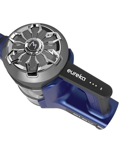 Scopa elettrica senza filo con motore di testa, Eureka impugnatura