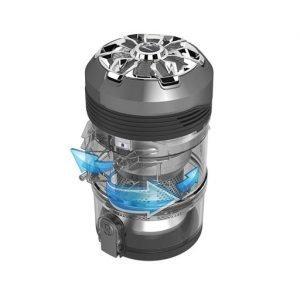 Scopa elettrica senza filo con motore di testa, Eureka motore 120 watt