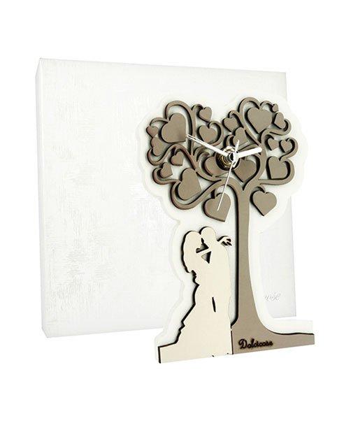 Orologio sposi con albero della vita realizzato in legno for Albero della vita significato